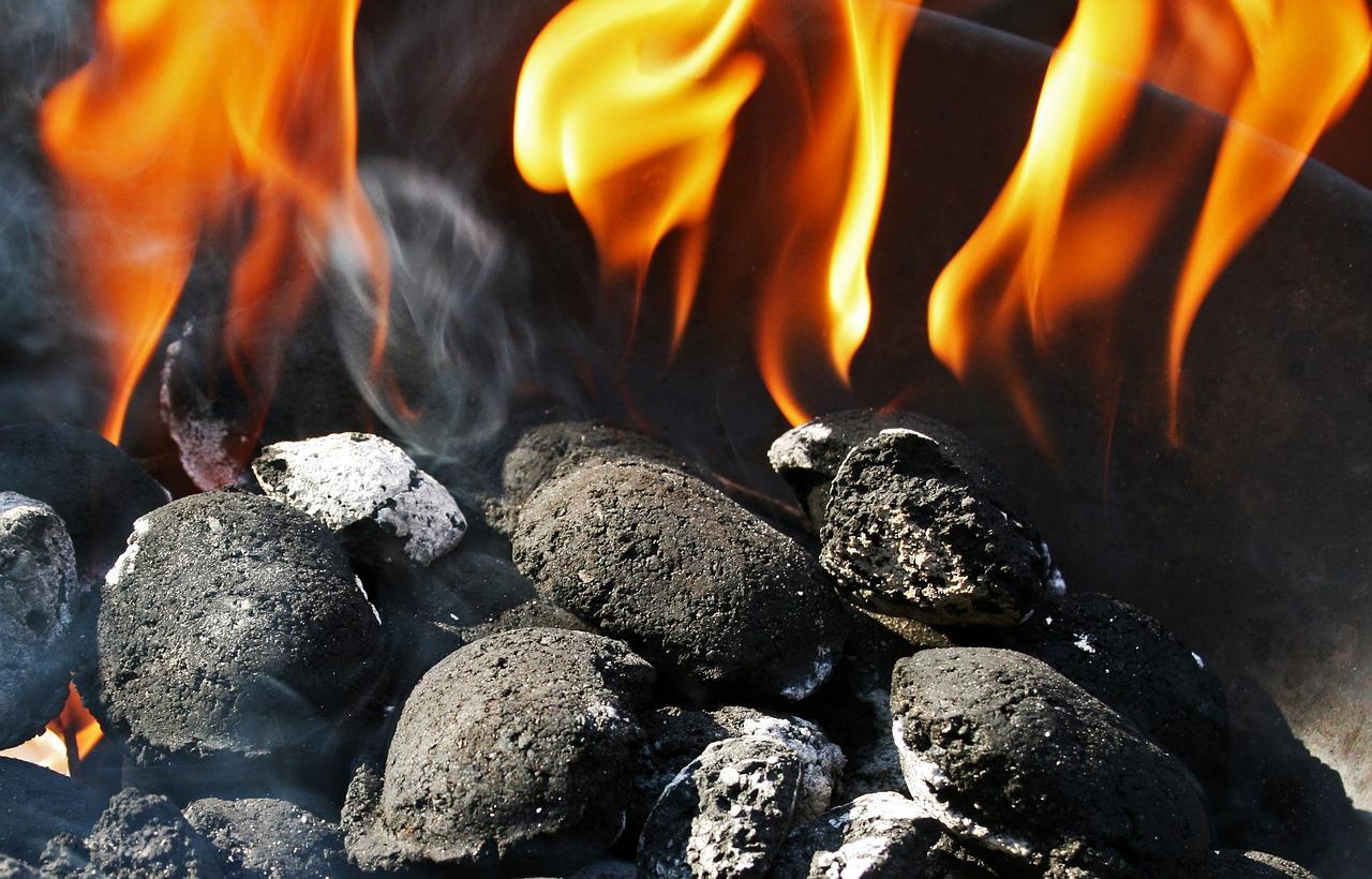 Feuer Holzkohle Feuer Glut Anzündkamin