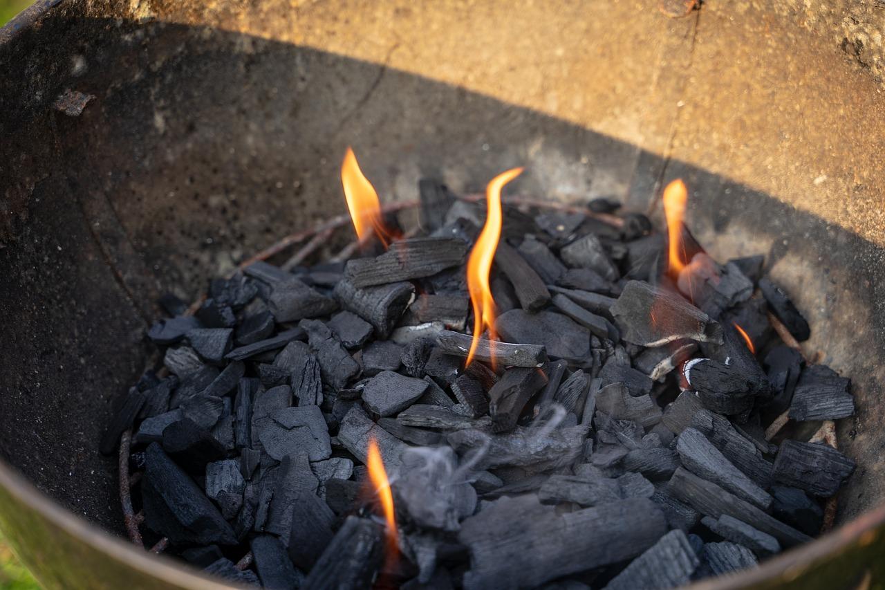 Feuerschale Grill Feuerstelle Glut Asche Aschereste