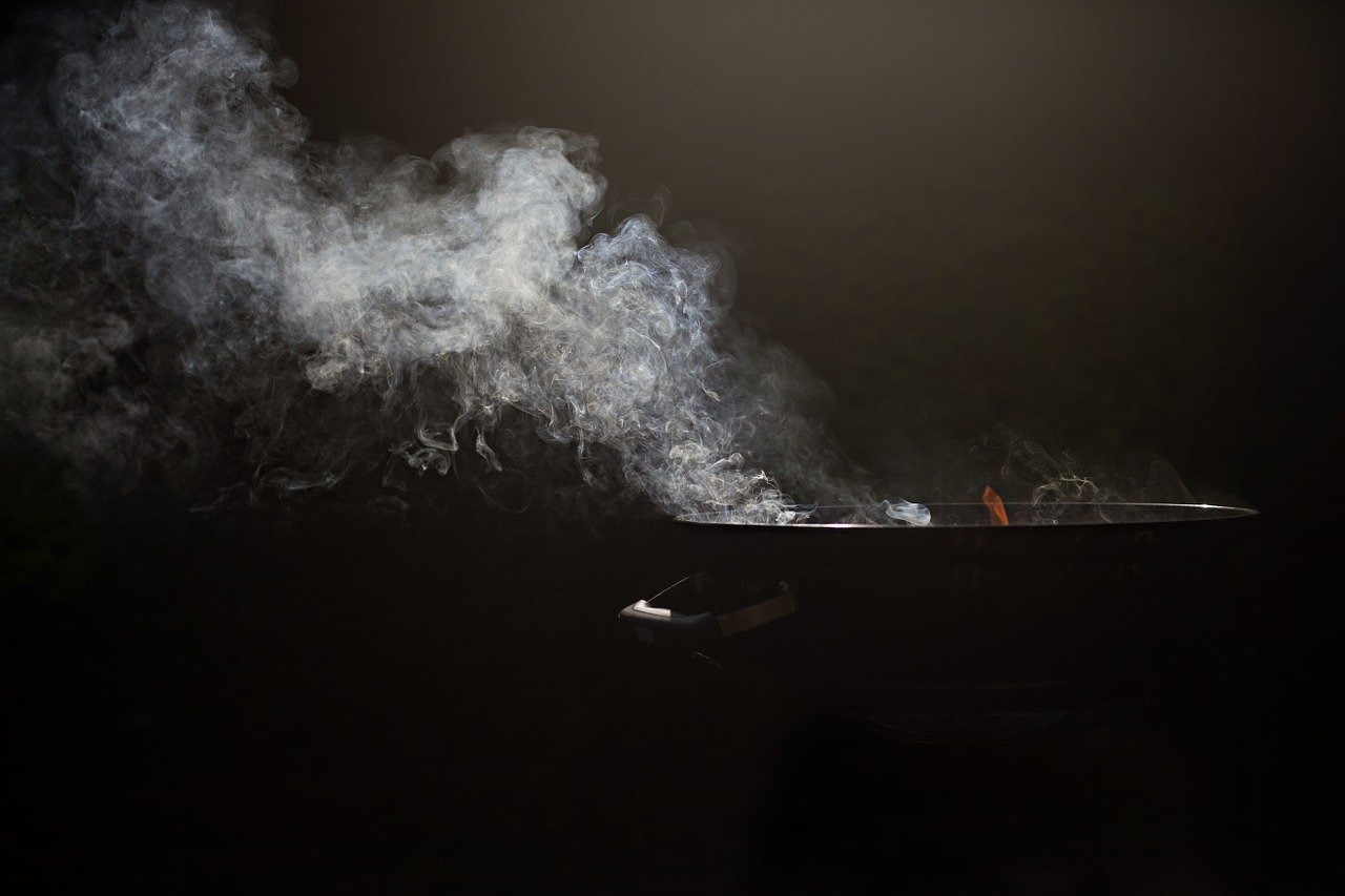 Feuerschale Rauch Glut Rauchentwicklung