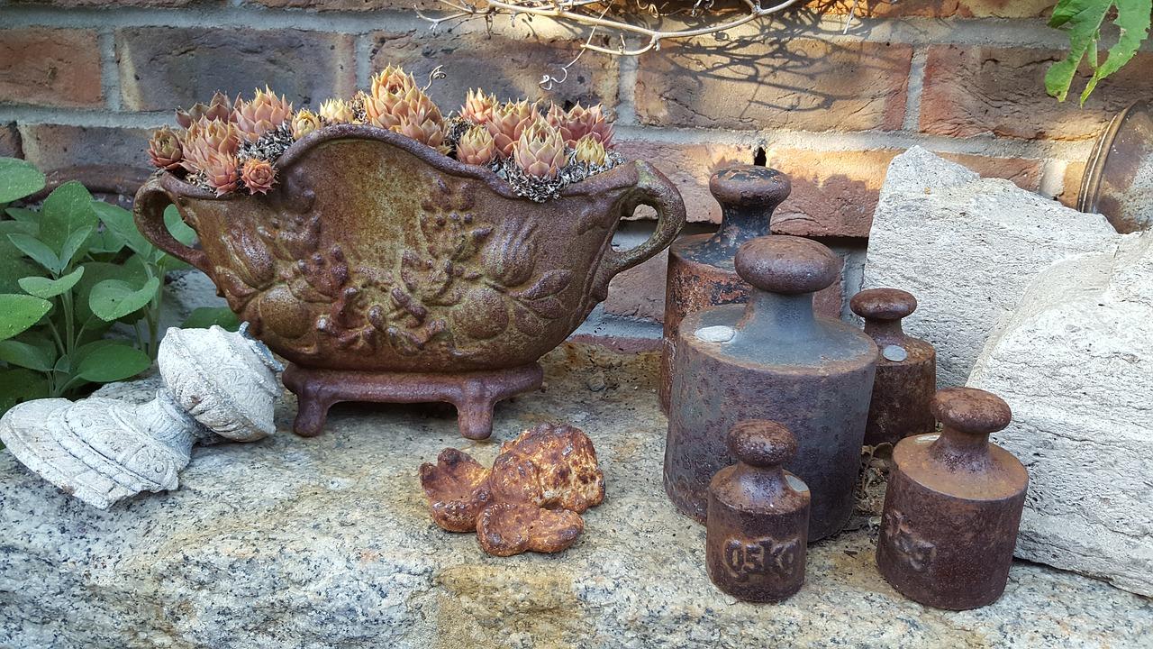 Garten Deko Vintage Gusseisen