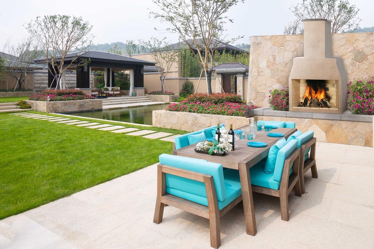 Garten Gartenkamin Lounge Feuer