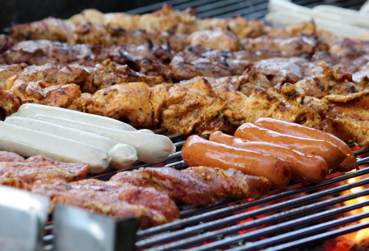 Garten Grill Grillrost Fleisch Wurst Grillen