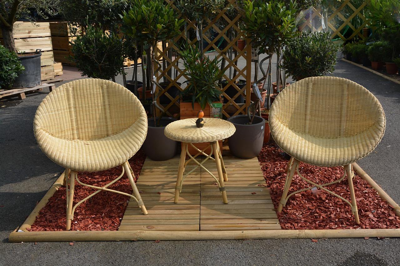 Garten Lounge Sessel Terrasse Teppich