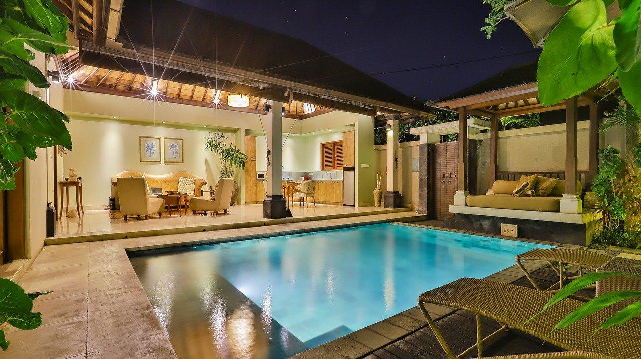 Pool Außenpool Villa Wasser