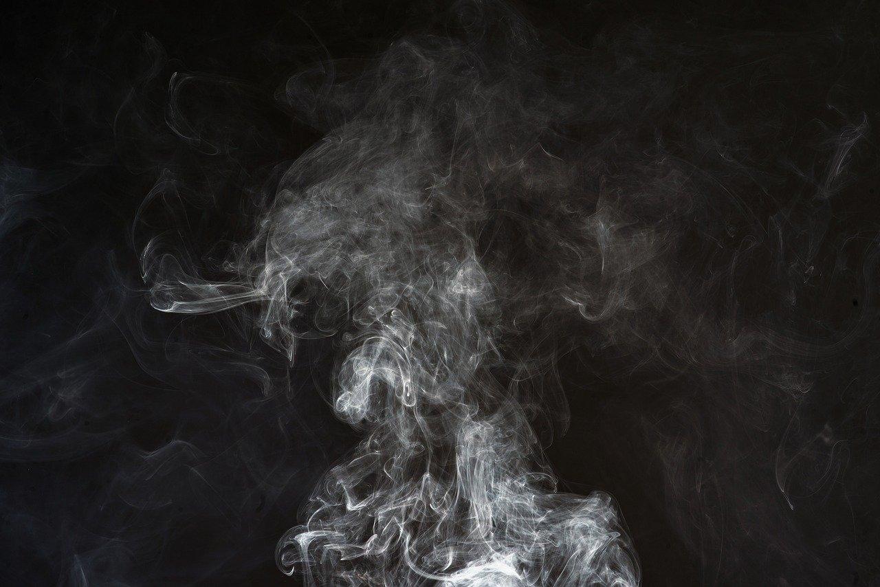Rauch Qualm Feuer Grillkamin Grillen