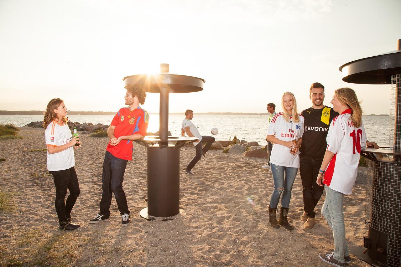 Strand Sand Menschen Veranstaltung Heizpilz