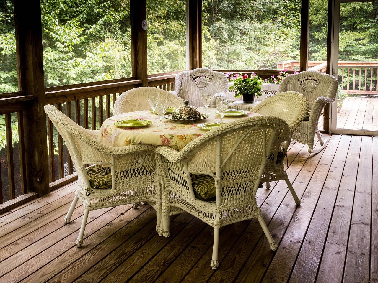 Terrasse Sitzgruppe Veranda Garten