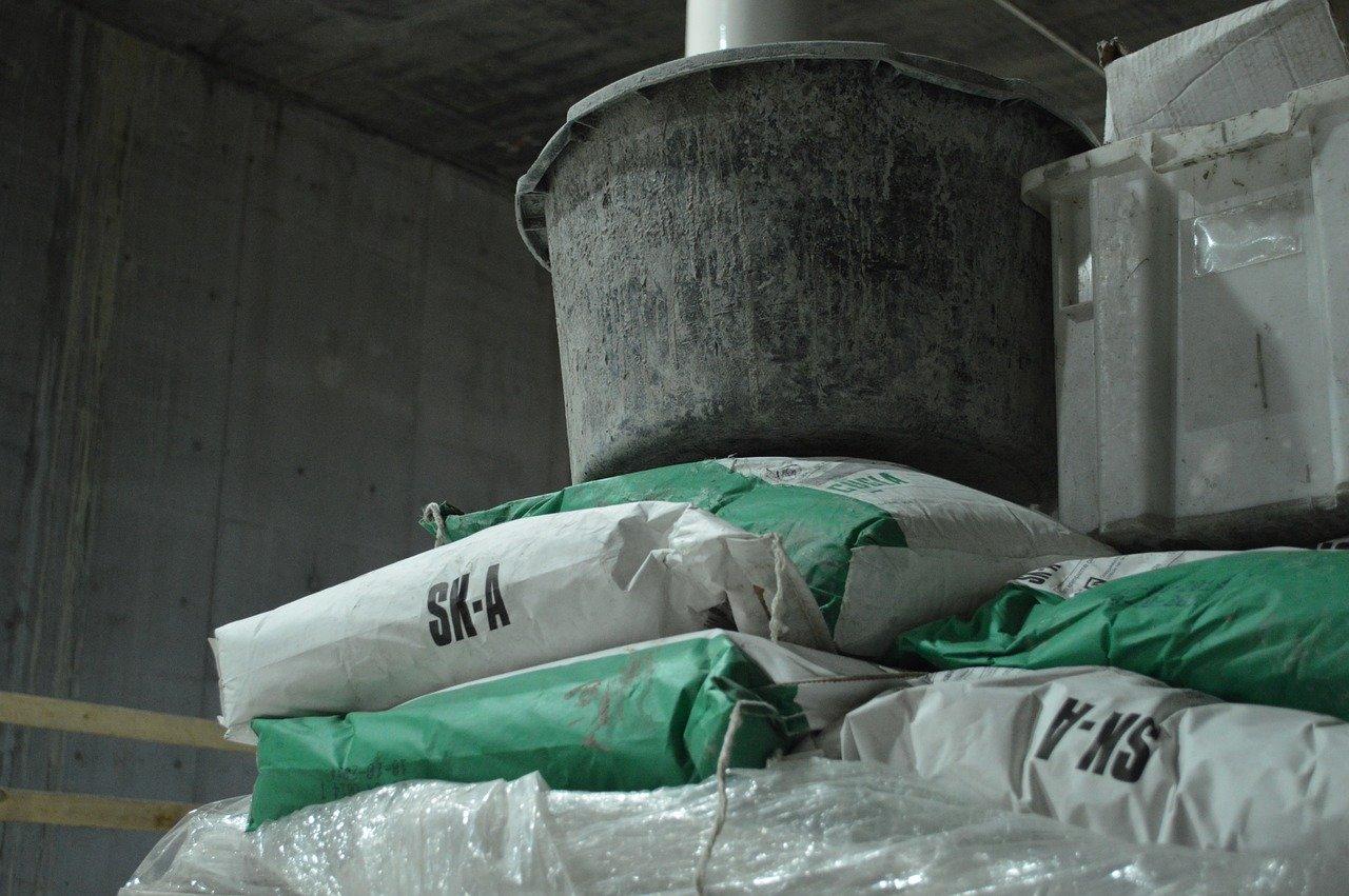 Zement Beton Eimer Zementkleber Kleber
