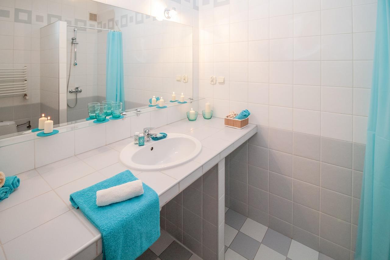 Bad Badezimmer Waschbecken Handtuch Spiegel