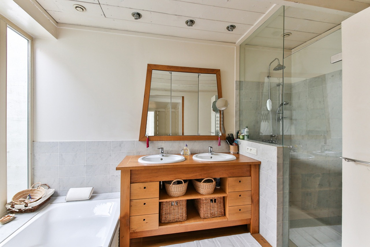Badezimmer Bad Waschtisch Waschbecken Heizen