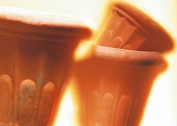 Teelichtofen in Terrakotta   Kerzenofen & Blumentopf-Heizung