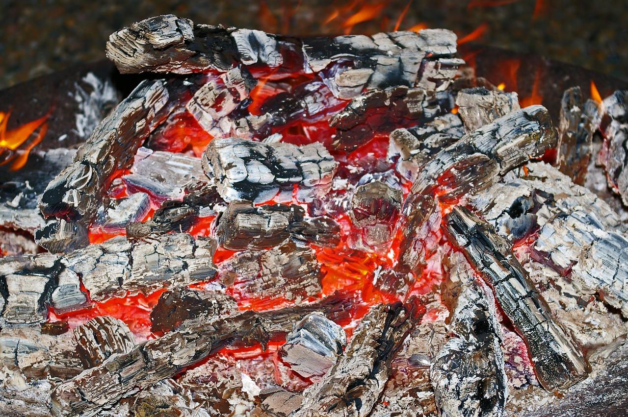 Glut Feuer Holz Hitze Feuerschale