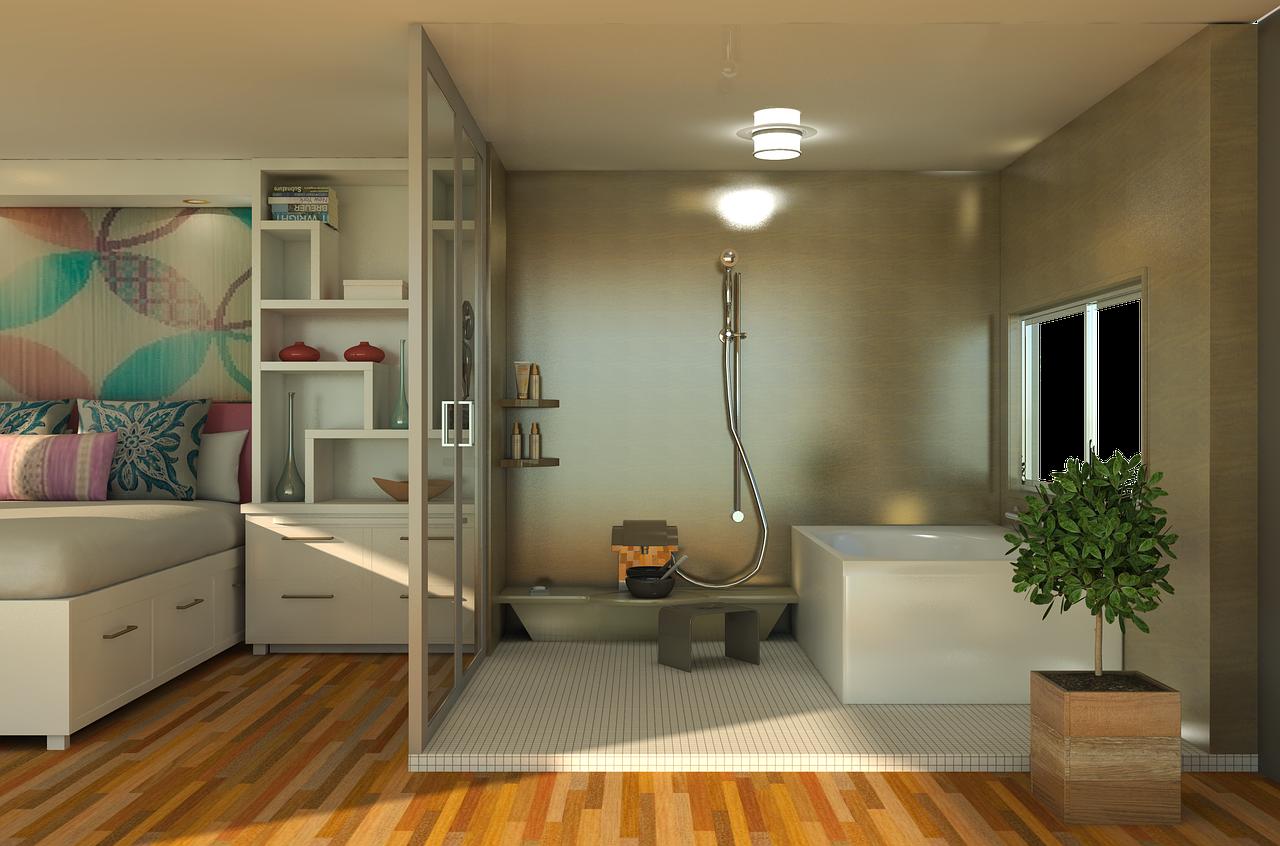 Badezimmer Badewanne Dusche Waschbecken