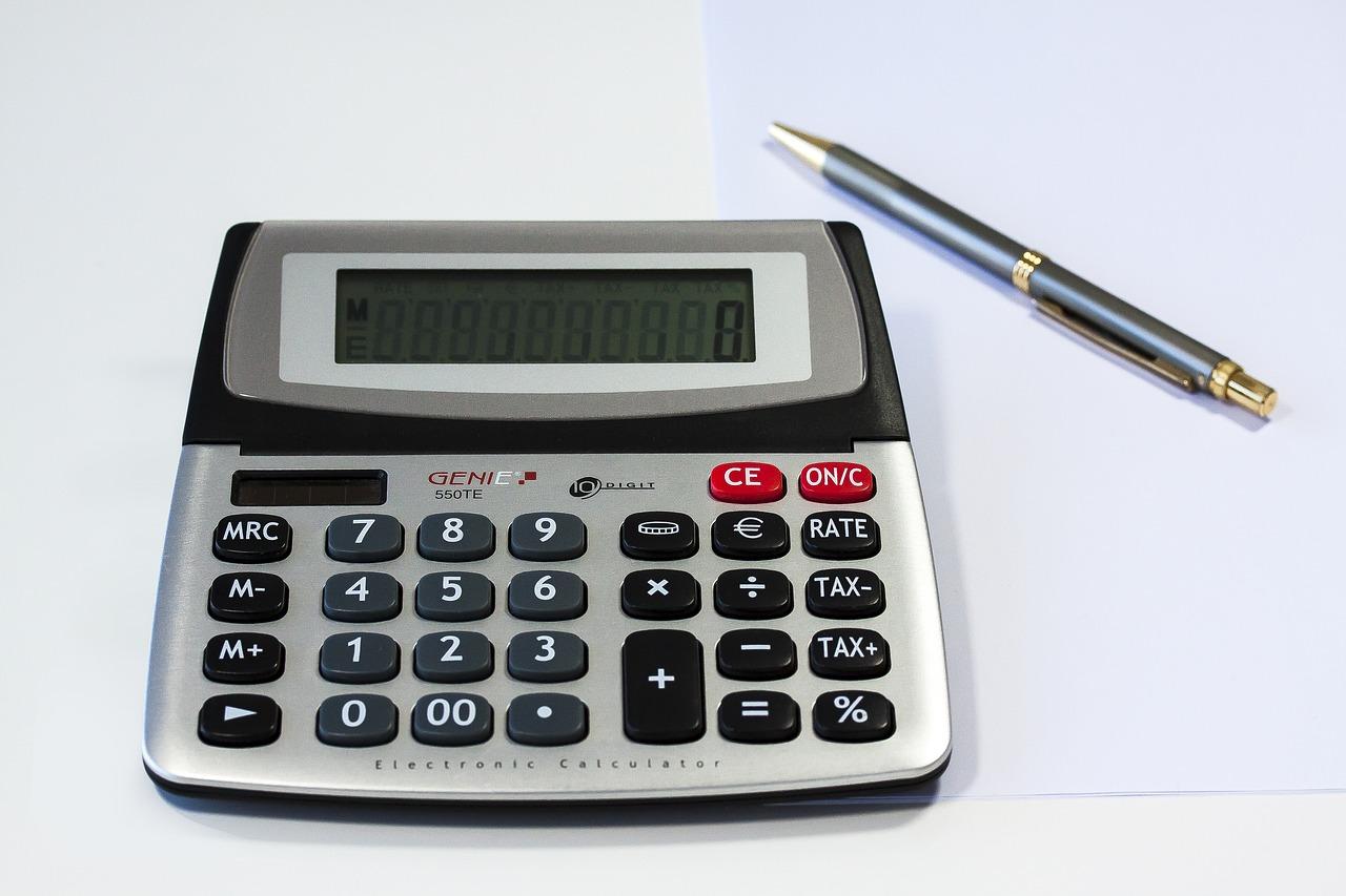 Taschenrechner Rechnen Kalkulieren Kugelschreiber