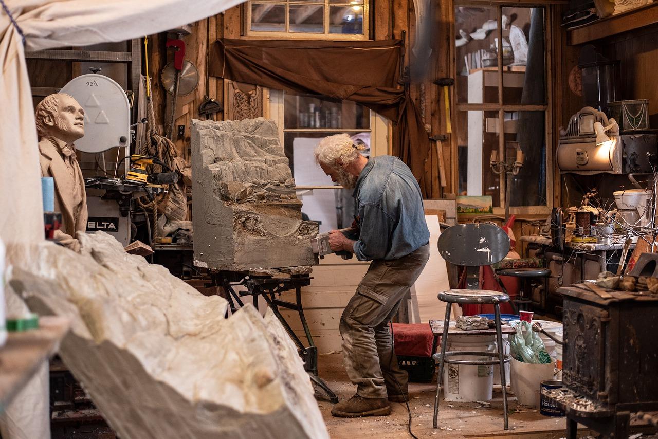 Werkstatt Studio Hobbyraum Skulptur