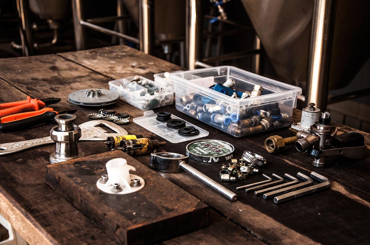 Werkstatt Werkzeug Einzelteile