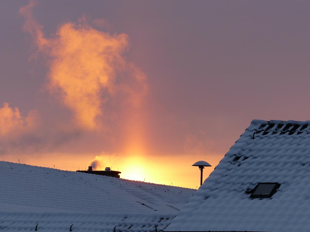 Winter Schnee Eis Kälte Morgen