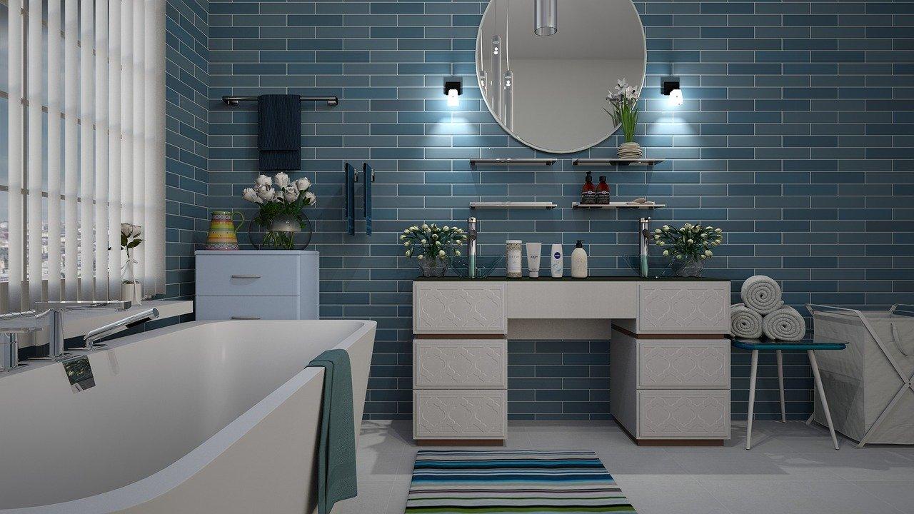 Bad Badezimmer Modern Badewanne Waschtisch