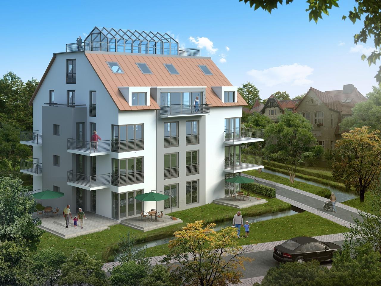 Haus Mehrfamilienhaus Neubau Wohnungen