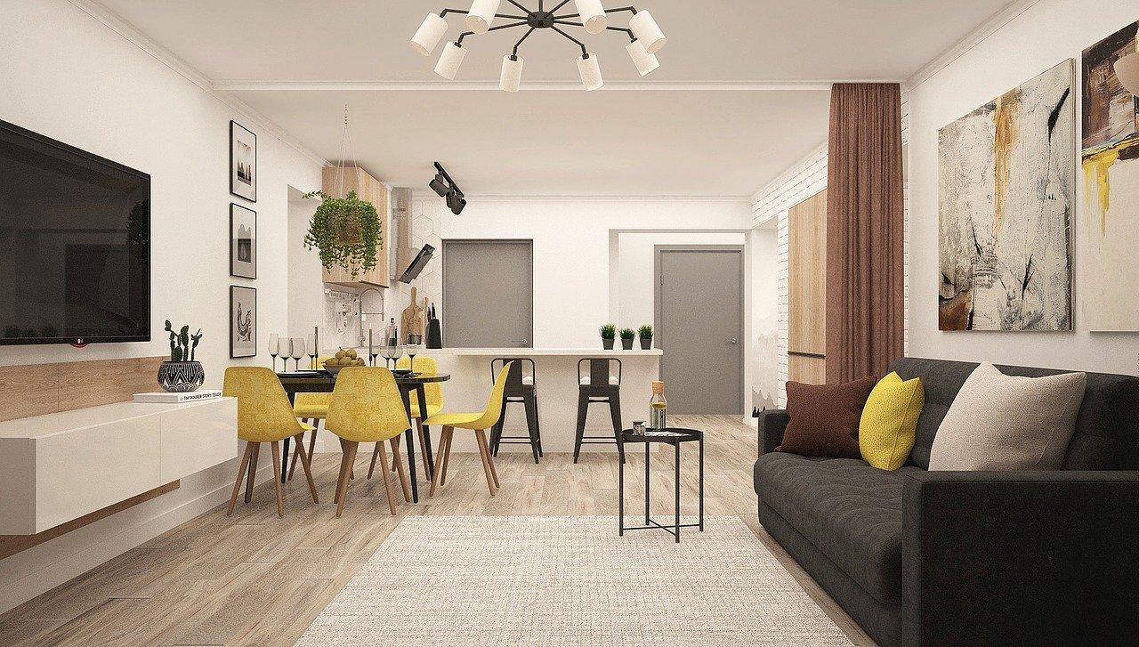 Küche Wohnung Offener Wohnraum Wohnzimmer Modern