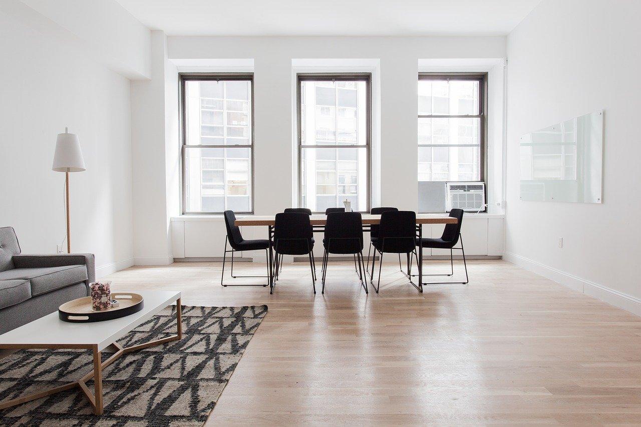 Holzboden Wohnzimmer Esstisch