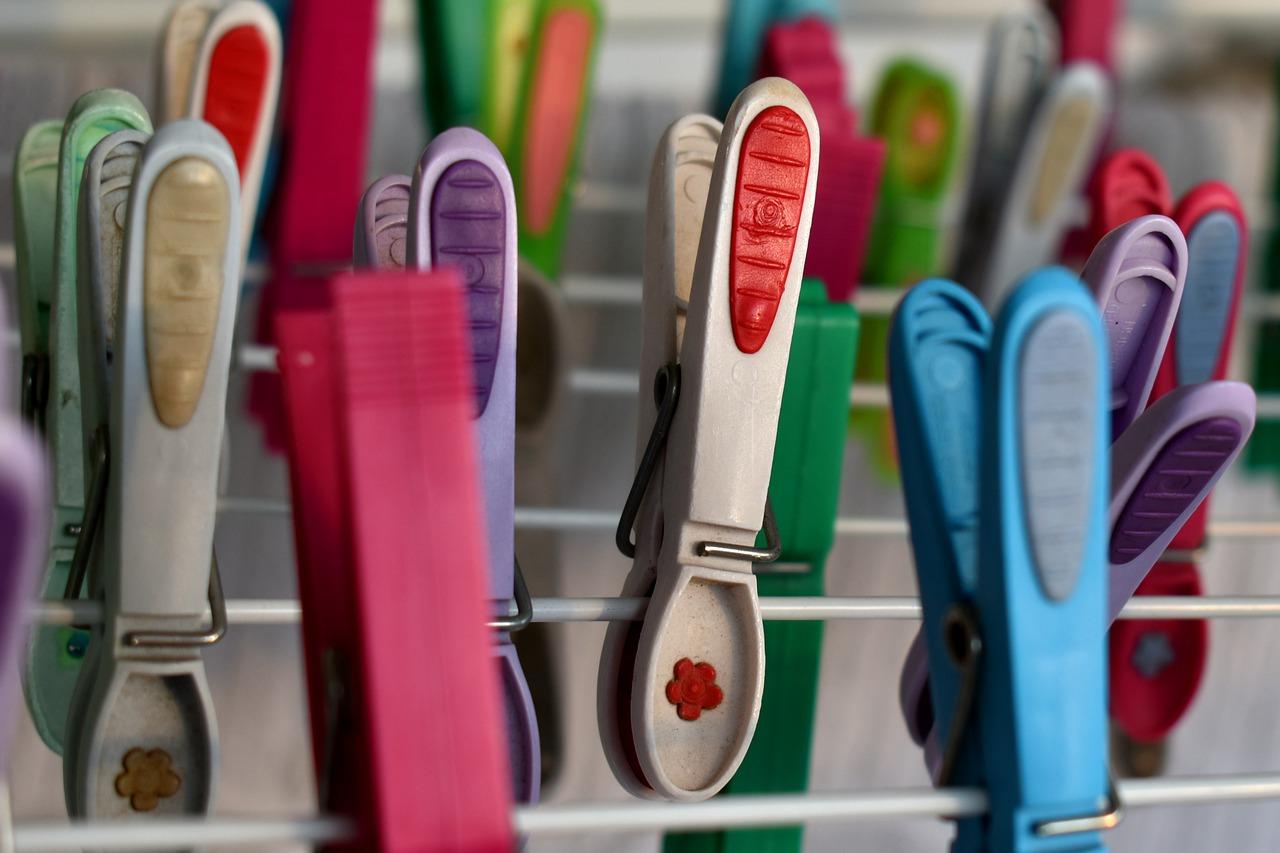 Wäscheklammern farbig
