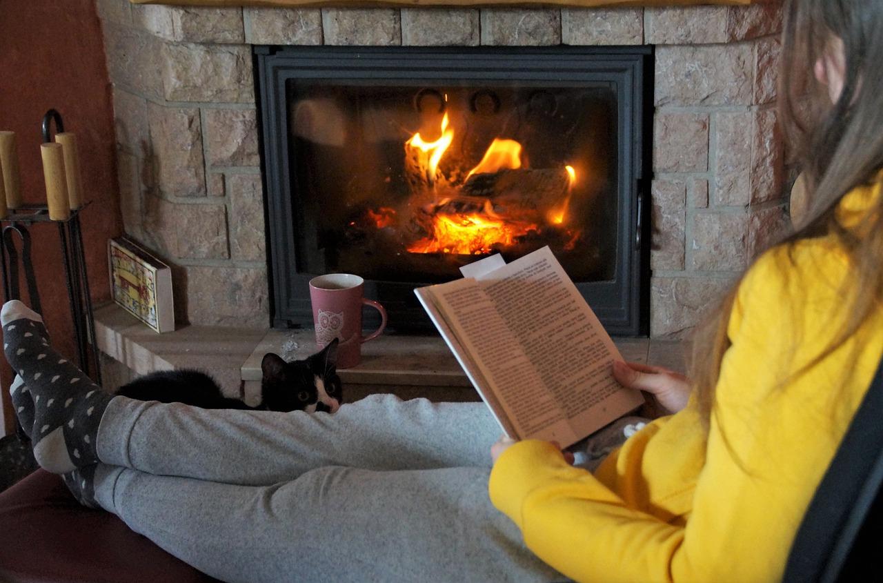 Relaxen Lesen Sessel Kamin