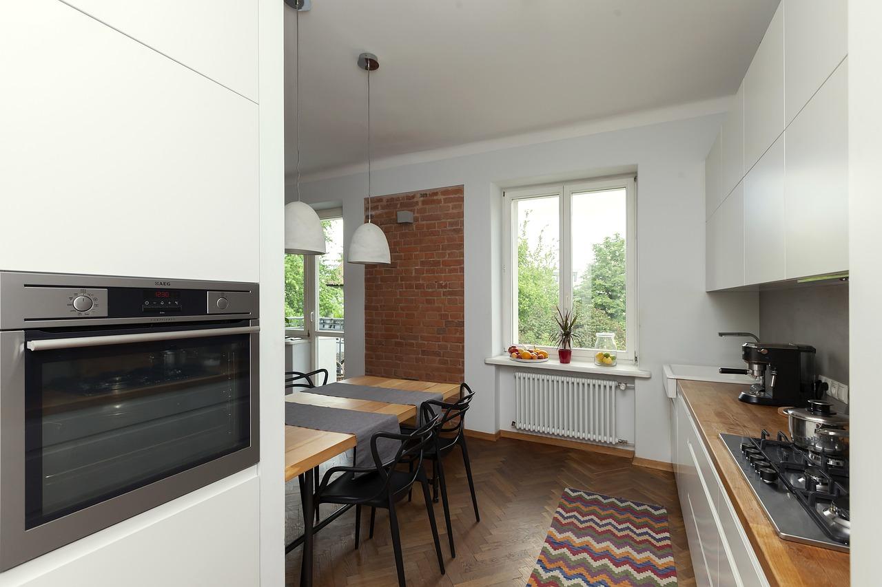 Küche Heizkörper Parkettboden