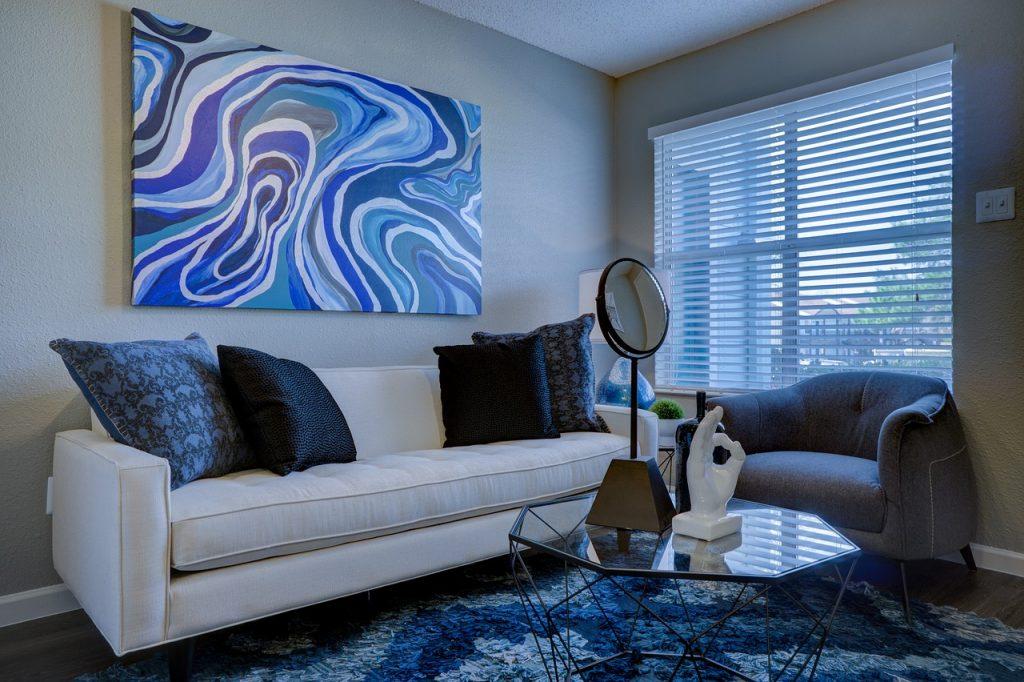 Wohnung Einrichtung Sofa Sessel Tisch
