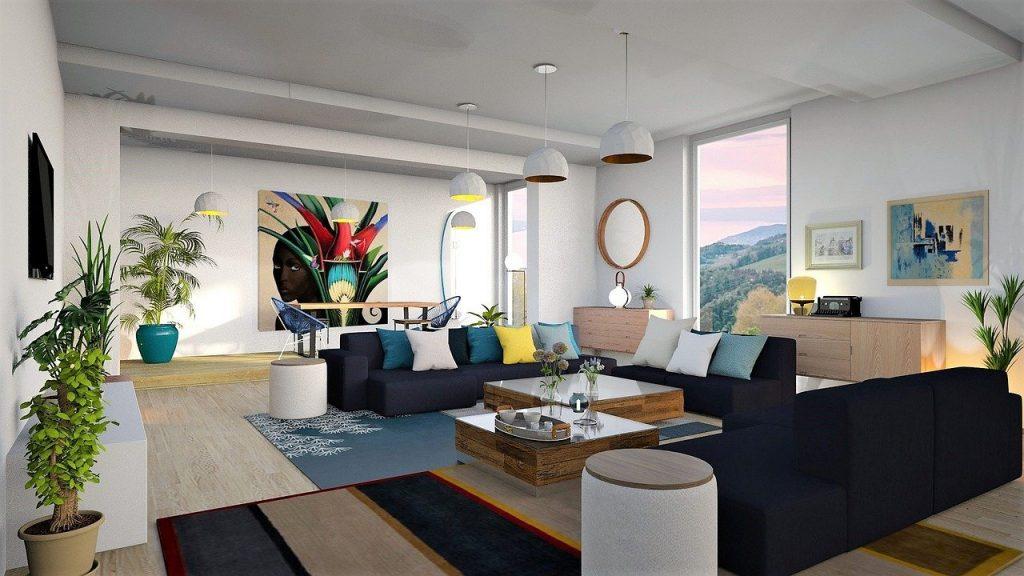 wohnzimmer Teppich Sofa Couch