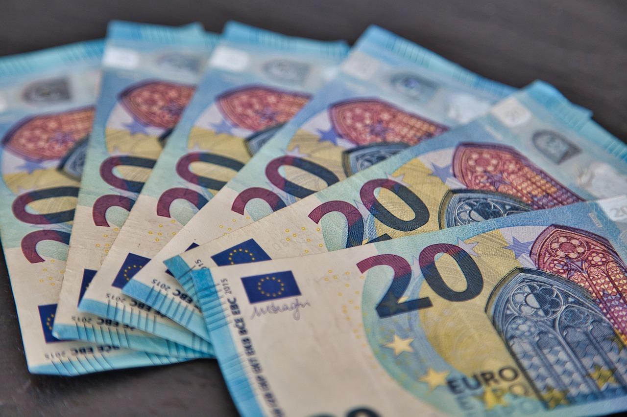 Geld 20 Euro Scheine