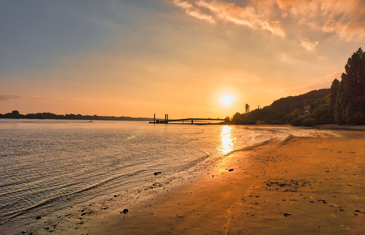 Sonnenuntergang Strand Sommer