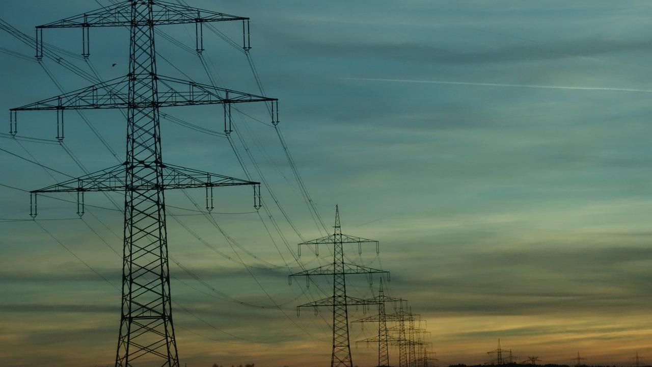 Stromtrasse Elektro Hochspannung